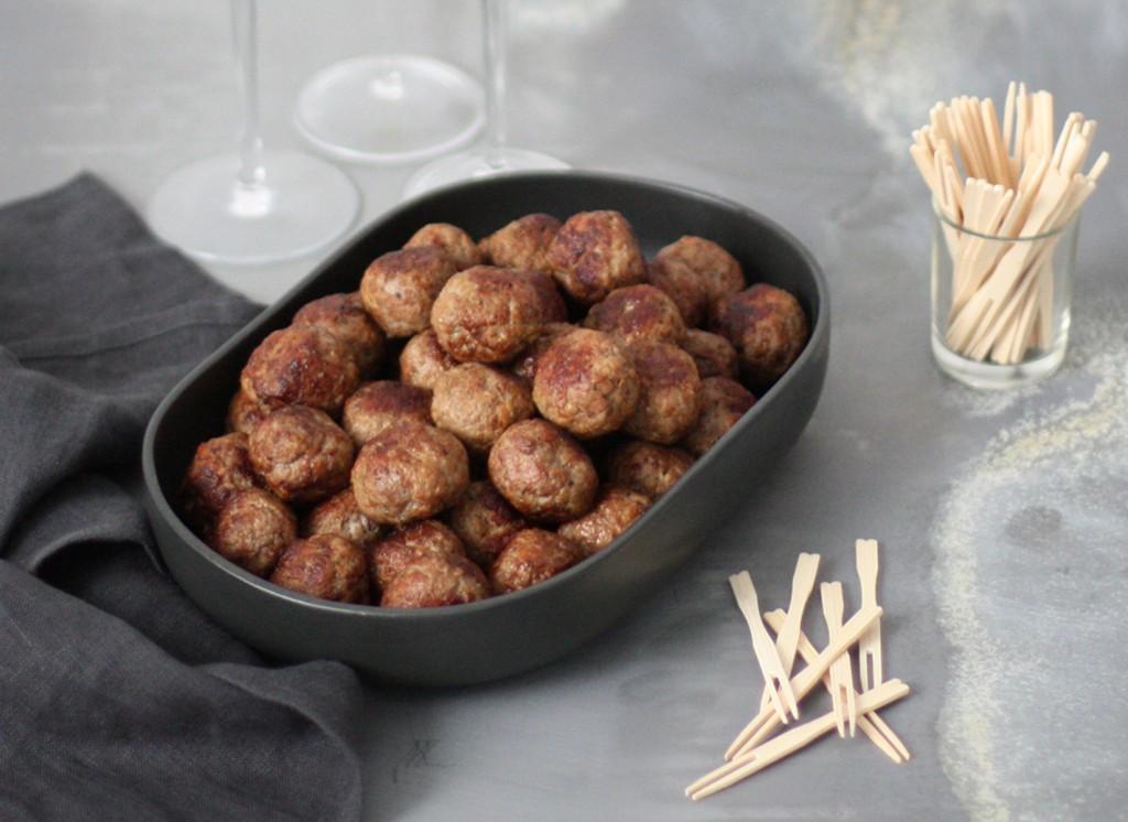 Mortadella meatballs