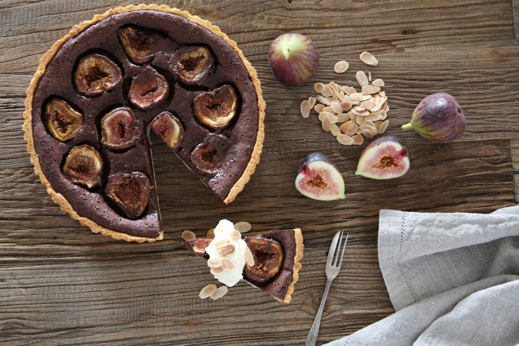 Spiced Chocolate and Fig Tart