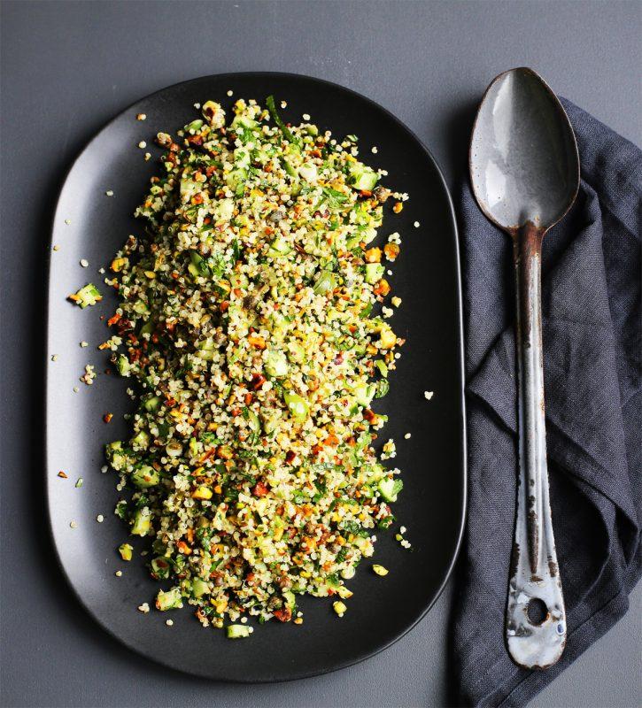 Quinoa and pistachio tabouleh