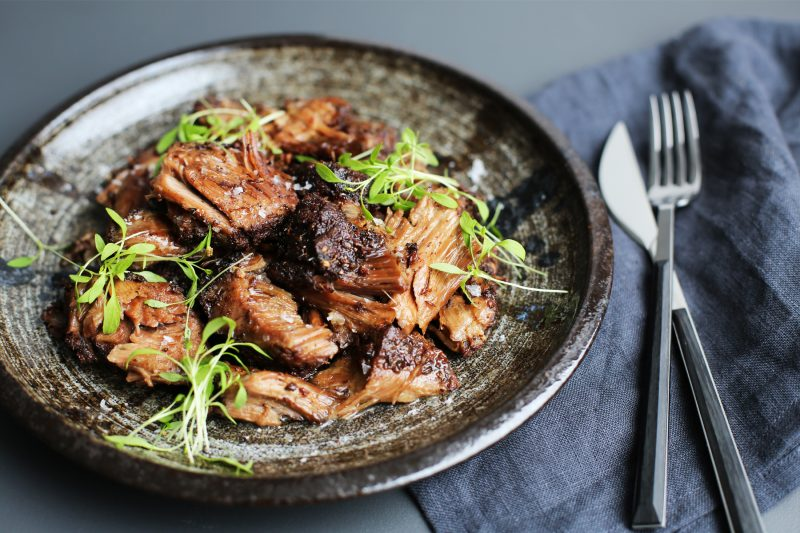 Slow-cooked spiced lamb shoulder