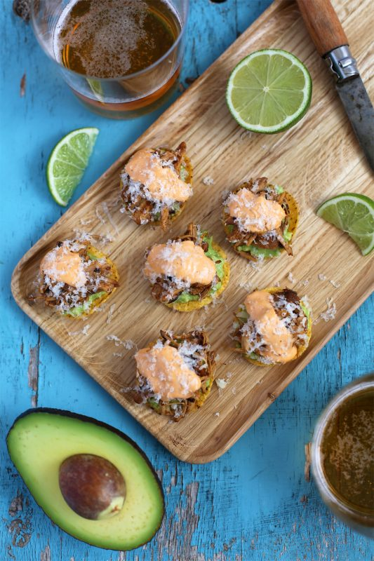 Smokey Chicken Tostadas