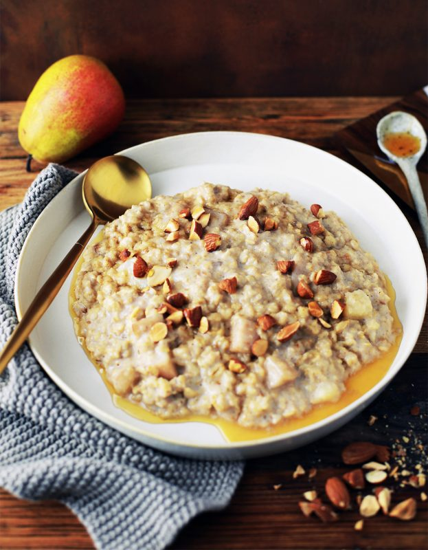 Honey & Spice Baked Porridge with Pears