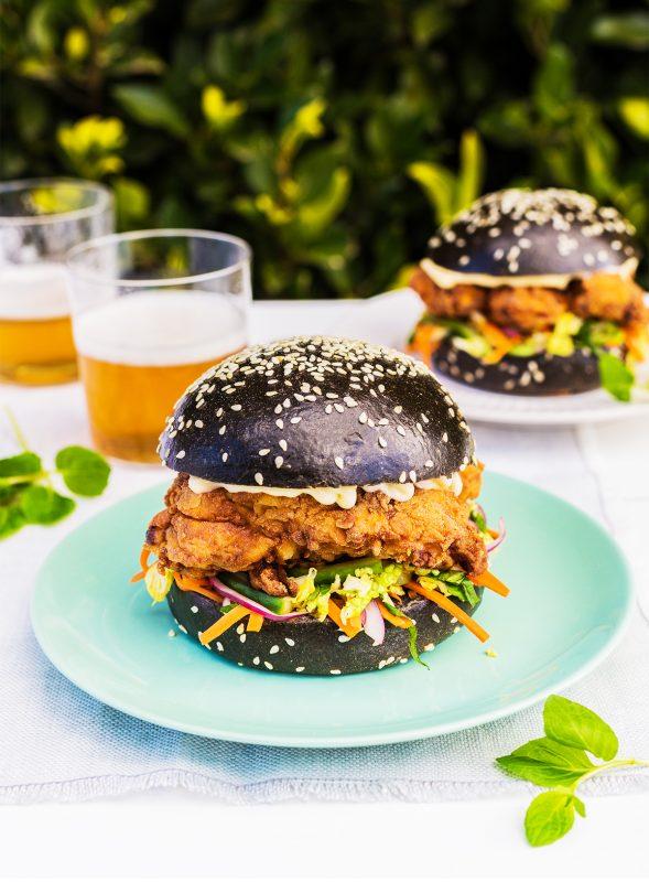 Asian Crispy Chicken Burgers