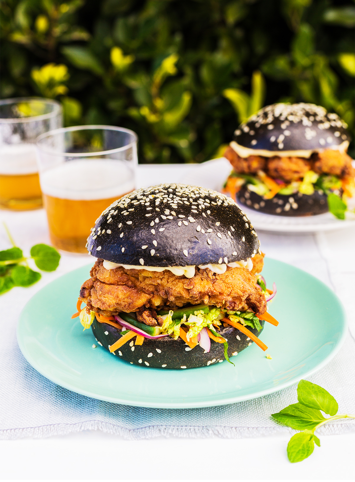 Asian Crispy Chicken Burgers Food Love Collective
