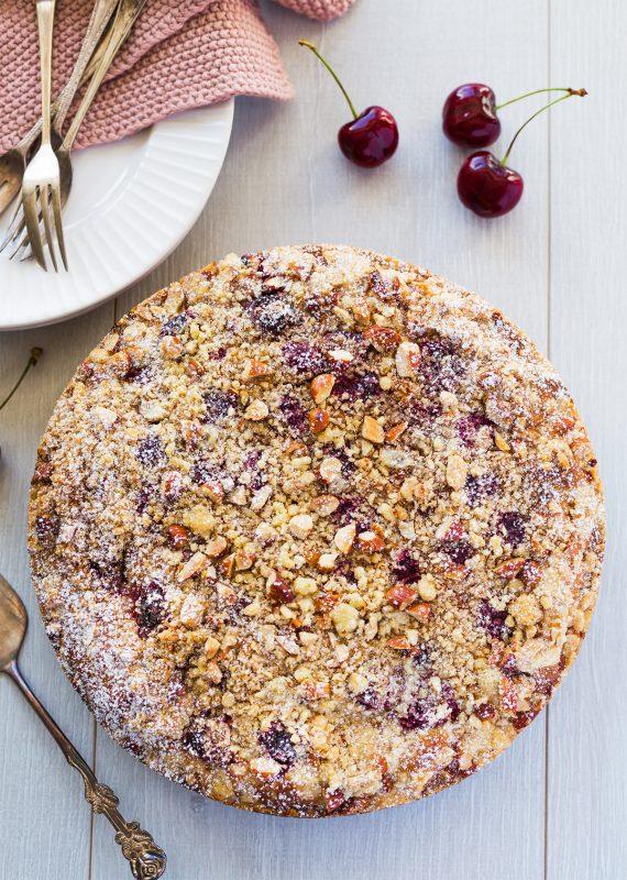 Cherry & Ricotta Crumble Cake