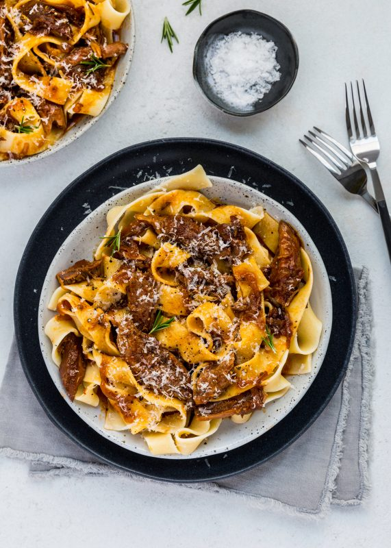 Pappardelle with Lamb Shank & Caramelised Onion Ragu