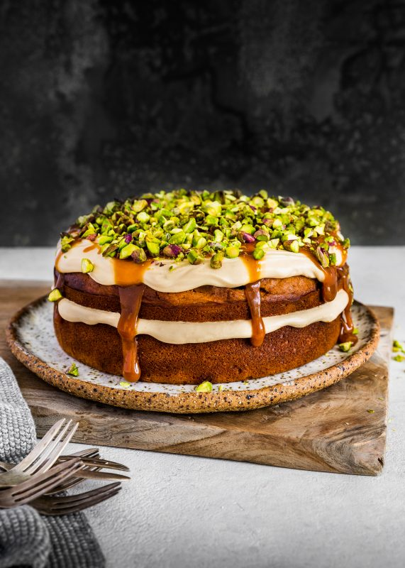 Spiced Carrot Cake with Pistachios