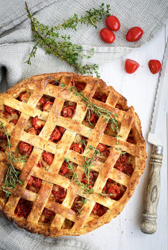 Tomato and Gruyere tart