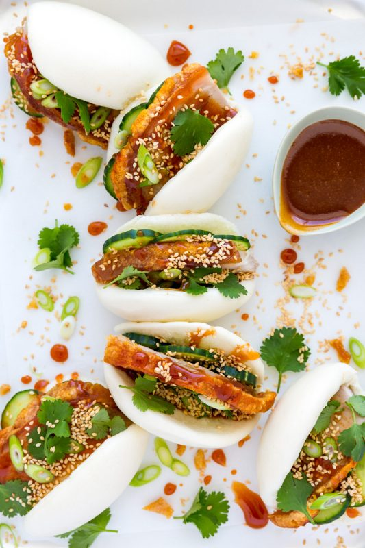 Pork Bao with Maple Glaze