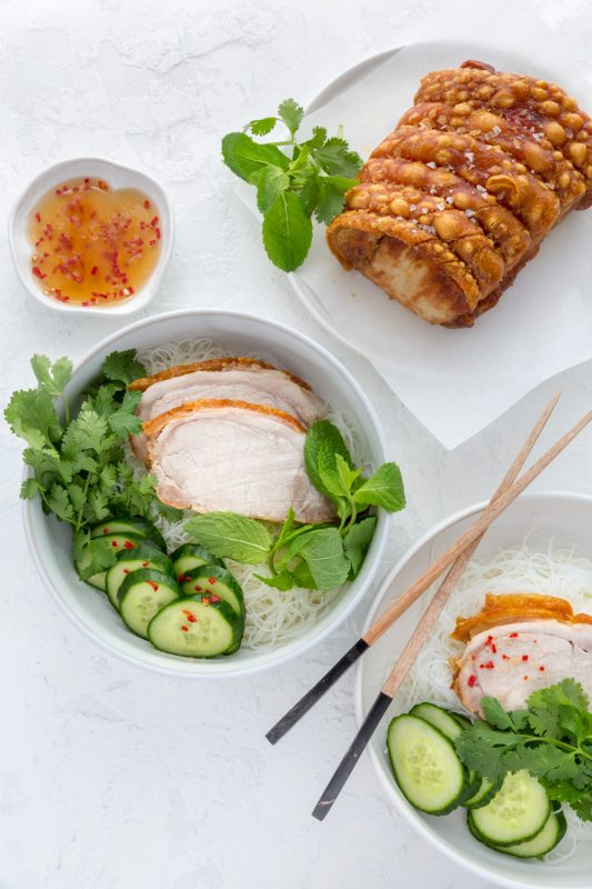 Roast Pork Bun Cha Bowl