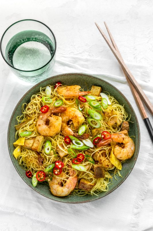 Roast Pork & Prawn Singapore Noodles