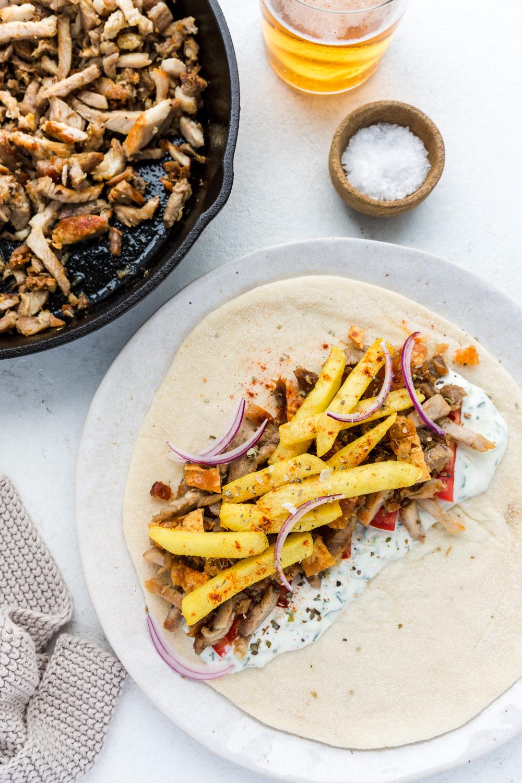 Greek-Style Pork Souvlakis with Tzatziki