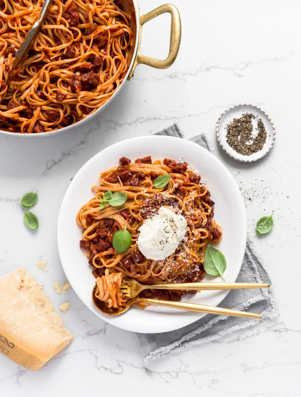 Chorizo Amatriciana with Whipped Ricotta