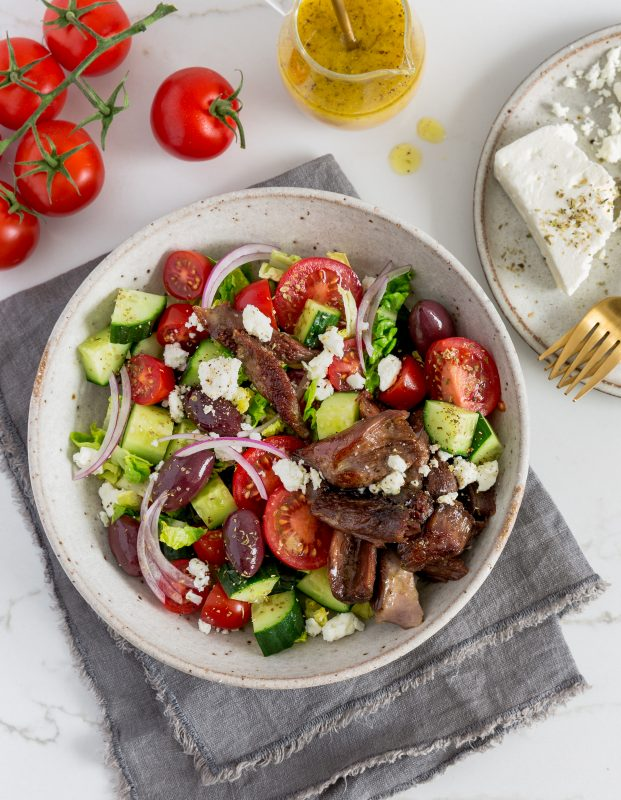 Crispy Lamb Greek Salad