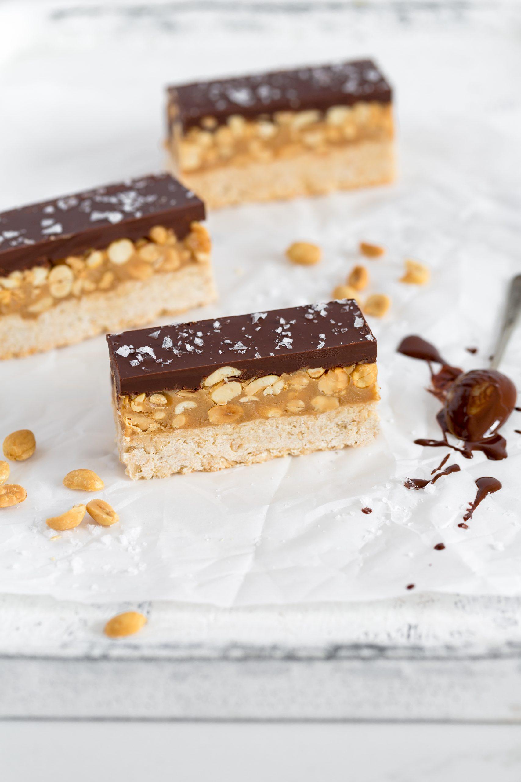 Salted Peanut & Oat Chocolate Bars