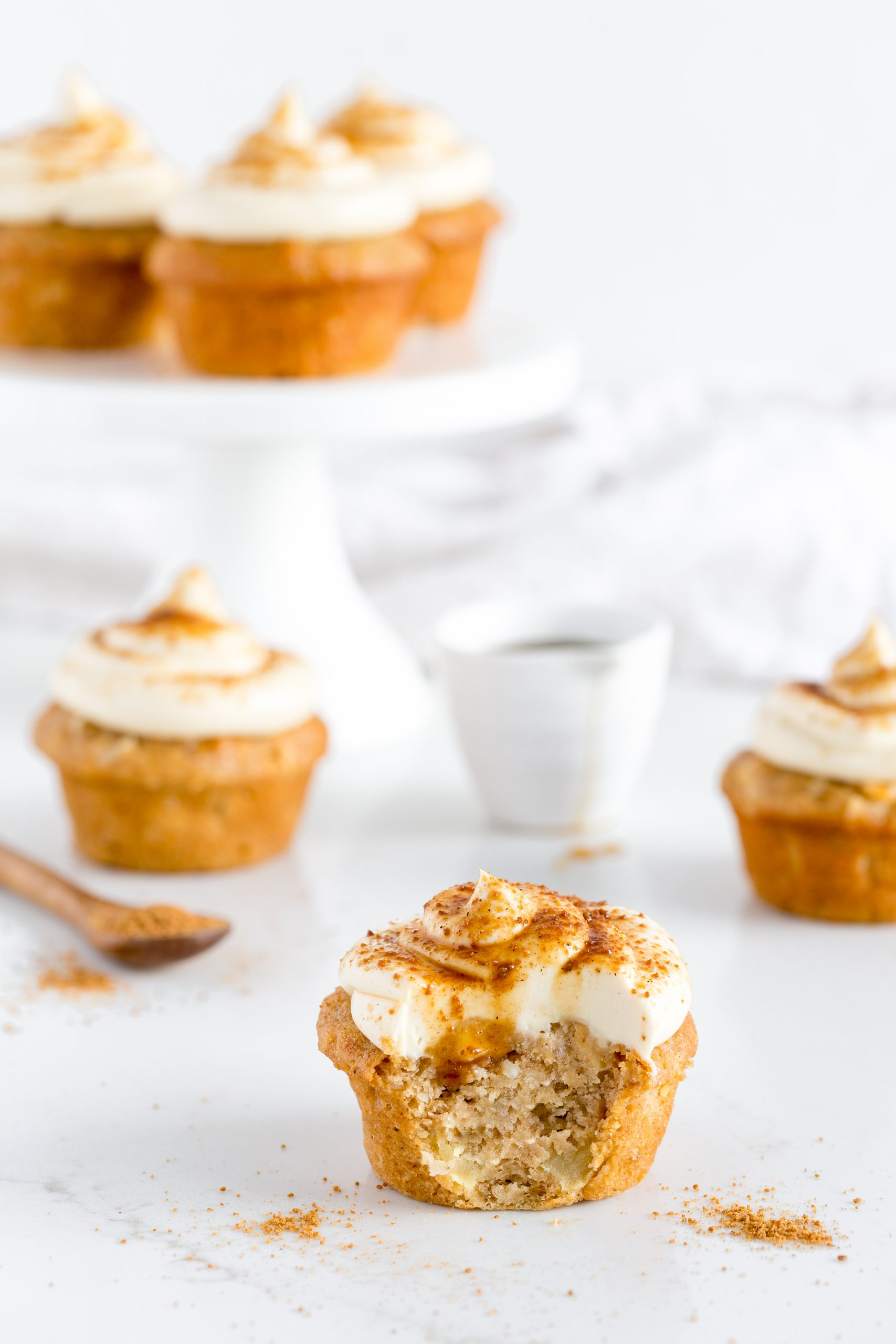Chai Apple Cakes with Maple Cream Cheese Frosting